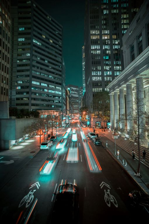 Night Lights in City