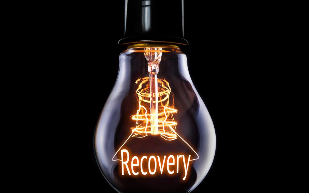 lightbulb showing recovery inside it