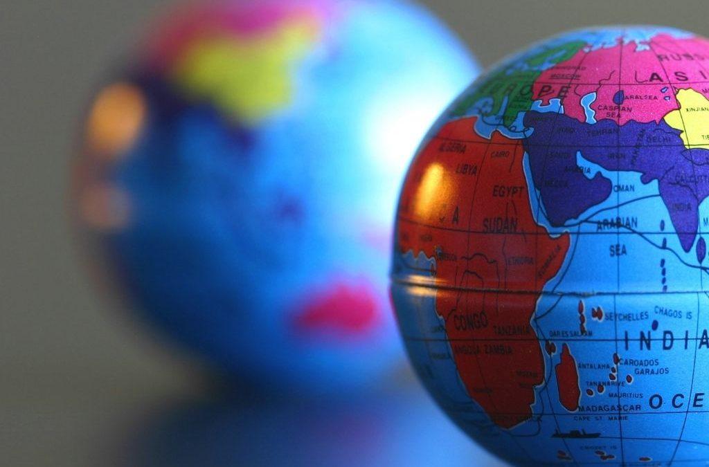 world globe and international trade